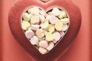 Vintage Valentines Hearts