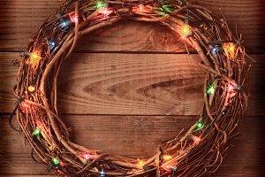 Wicker Christmas Wreath