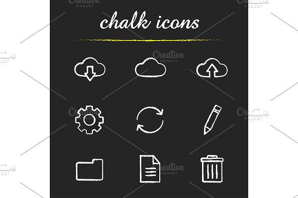 Cloud computing. 9 icons. Vector - Icons