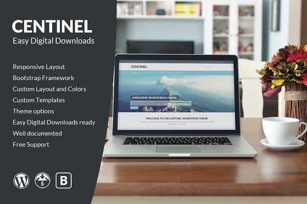 WordPress eCommerce Themes: Jinson - Centinel - Easy Digital Downloads
