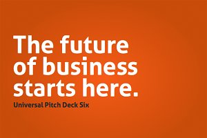 Universal Pitch Deck Six PowerPoint