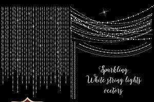 Sparkling White Vector String Lights