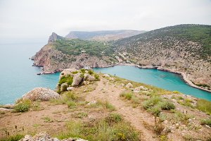 rock by the sea Crimea