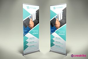 Business Roll Up Banner - v017