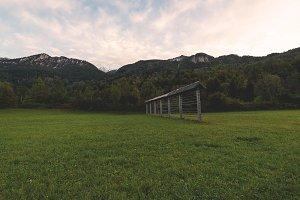 Hayrack on the meadow
