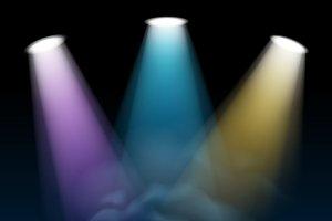Spotlight illuminates scene