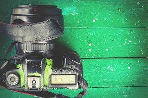 Old worn camera
