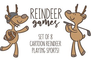 Reindeer Games: 8 cartoon set