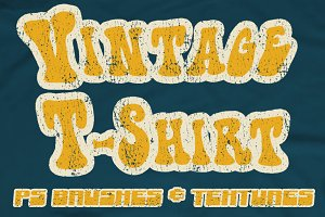 Vintage T-Shirt Textures and Brushes