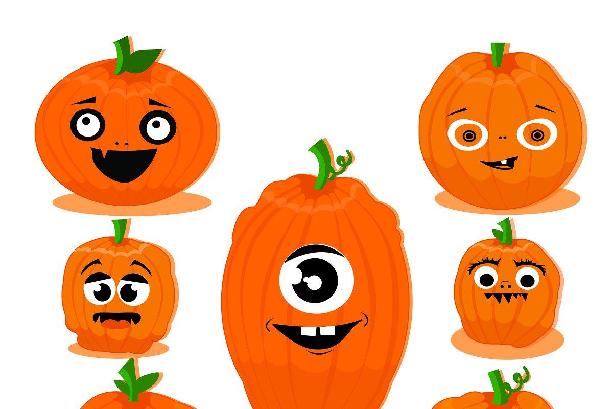 Funny Pumpkins Clipart Custom Designed Illustrations Creative