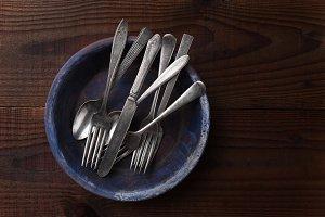 Silverware on Plate