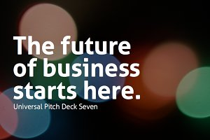 Universal Pitch Deck Seven Keynote