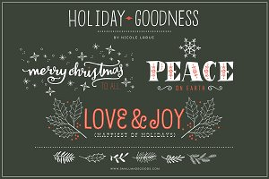 Holiday Goodness (Clipart)