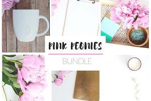 Pink Peonies Stock Photo Bundle