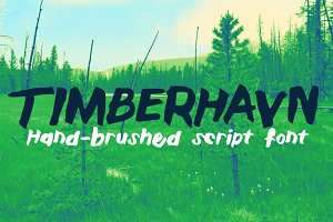 Timberhavn Thick Brush Font
