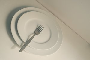 fork over two plates