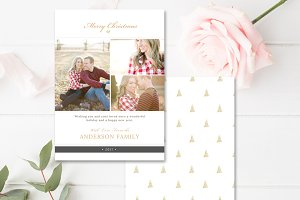 Holiday Press Card Template
