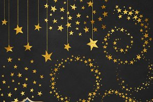 Gold Stars Clipart