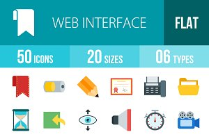 50 Web Interface Flat Icons