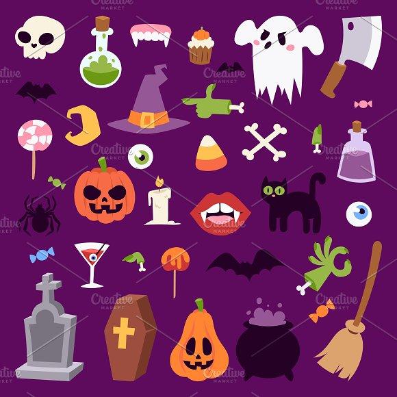 Halloween symbols vector collection ~ Illustrations ~ Creative Market