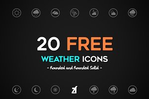 FREE! Weather icons pack