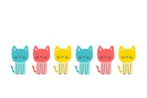 Colors cute cats