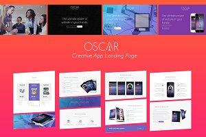 OSCAR // Creative App Landing Page