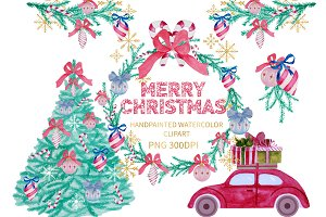 Christmas Watercolor Clipart Xmas