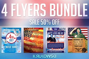 USA Holidays Flyers Bundle