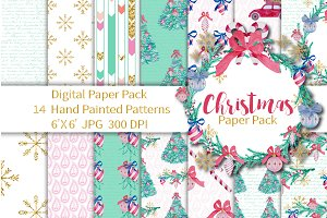 Christmas Digital Paper 6x6