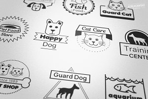 Pets Animals Badges Logos