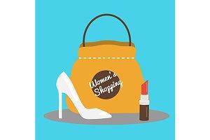 Women's shopping banner. eps+jpg