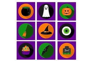Halloween icons set. eps+jpg