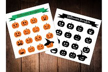 Halloween pumpkin icons. eps+jpg