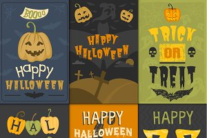 Vector halloween greeting card