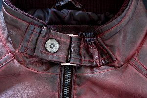 modern red leather jacket