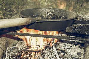 Barbecue vintage desaturated