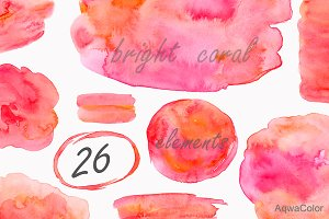 Watercolor clipart Coral - 2