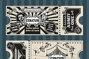 Birthday card with circus tickets