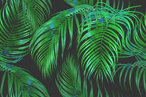 Tropical pattern,palm leaves