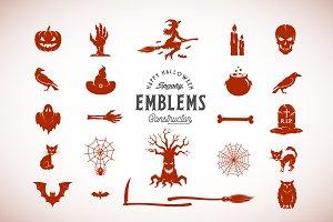 Halloween Emblems Constructor