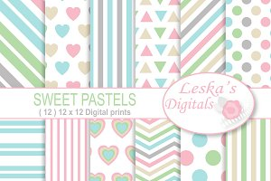 Pastel Digital Paper Pack