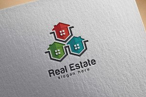Real Estate logo, Abstract home logo