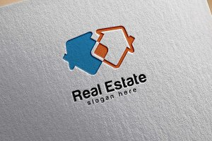 Real estate logo,Abstract Home Logo