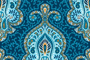 Indian ethnic seamless patterns.