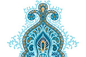 Indian ethnic ornament.