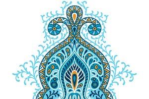 Indian ethnic ornament.