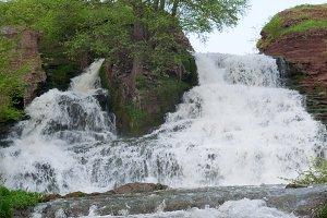 Nyrkiv riwer waterfall, Ukraine