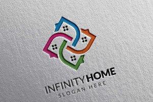 Real Estate Logo, Infinity Home Logo