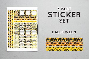 Planner Sticker Set - Halloween